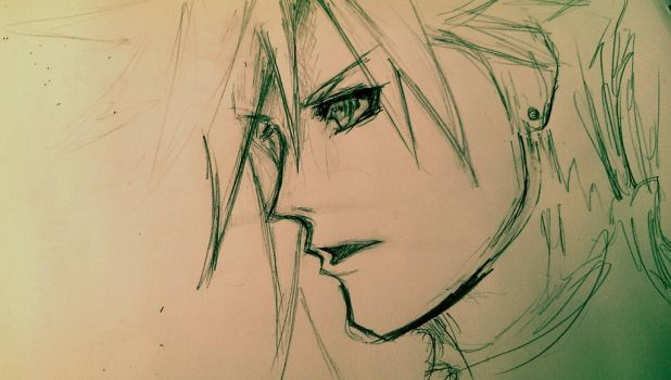 Cloud Practice (Tetsuya Nomura Style) by Ex-Soldier-Cloud