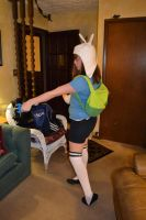 Halloween as Fionna the Human (With my backpack!) by InceptionErection