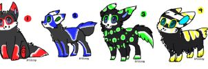 5 POINT PUPS Closed by SammyslionAdopts