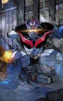 Mazinger Z battle by toonfed