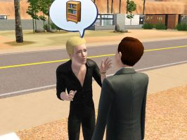 Sims: A very interesting talk about a closet by bloodwolf8