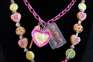 Crumbs cookie bakery 2 Necklace Hand Made by NamineEveningLight