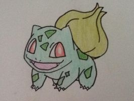 #001 Bulbasaur by darnowxelemon