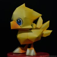 Chocobo Papercraft by Pastel-Leaf