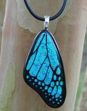 BlueMorpho Glass ButterflyWing by FusedElegance