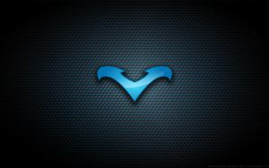 Wallpaper - Nightwing Blue Logo by Kalangozilla