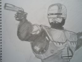 Robocop 10 min sketch by papabear7