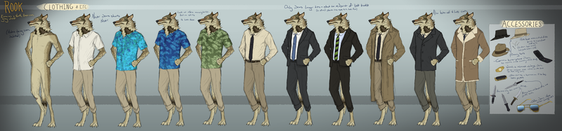 Rook - Reference of Clothing and Etc. by Canis-ferox