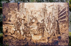 The Avengers - Wood Burning by brandojones