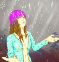 6-26-2012 - TH: In the Rain (Colored) by 2Unkown2Know