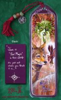 Green Man Coyote Fae Bookmark by Dreamspirit
