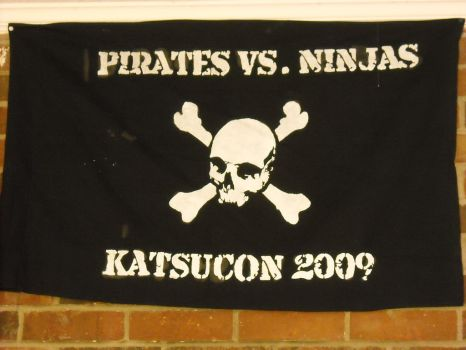 Pirate vs. Ninjas flag by SubZenyth