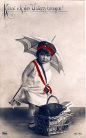 German Girl with Umbrella by HauntingVisionsStock