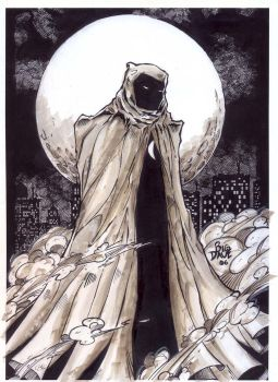 moon knight ink and marker by BiggDave