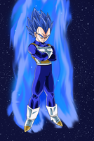 SSJ God Blue Hair Vegeta by EymSmiley