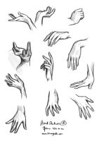 Hand Studies 01 by the-a-line