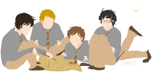 boys and their map by Avender