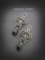 earrings with spinel by nastya-iv83