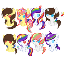 White knight Pastel soul and Prism Feather foals by shadeofpokemonsaga