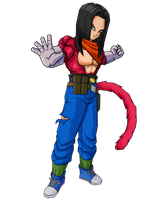 SSJ4 Android 17 by brolyeuphyfusion9500