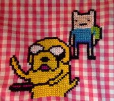 Finn and Jake baking fake-on pancakes by ArlieBelliveau