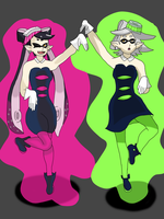 Callie and Marie by AfroOtaku917