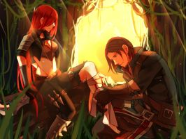 Katarina And Garen by Yosukii