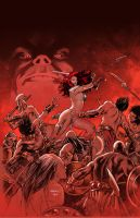 Red Sonja :Doom of the Gods 3 by PaulRenaud