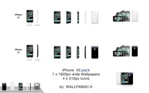 IPHONE V2 WALLPAPERS and ICONS by oohTony