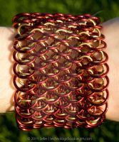 Red and Brass Dragonscale by TechnologicBookwyrm