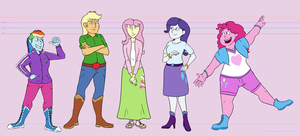 Equestria Girls - redesigned by TheSpectral-Wolf