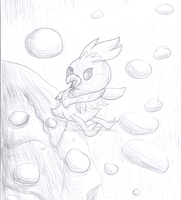 Torchic uses Rock Slide! by lavaquil