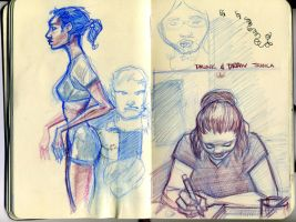 DRINK N DRAW JESS and athelete by HUMPHREYSIR