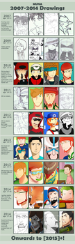 Muna's Art Improvemnt: 2007-2014 by MunaDrawsOn