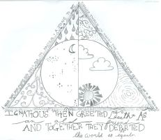 Deathly Hallows drawing. by athenadeniise