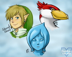 Zelda Skyward Sword sketchdump by Shadow0Haven