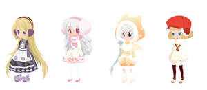 Free Winter Selfy Adopts - Write to Adopt CLOSED by pinkdopts