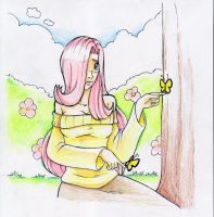 Fluttershy Humanized by Xulia