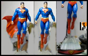 Superman paintup by AYsculpture