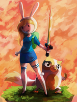 Fionna and Cake by CuteSkitty