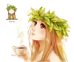 green tea by meago