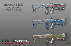 Fictional Firearm: HC-SGR22XK Submachine Railgun by CzechBiohazard