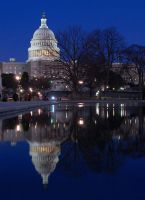 US Capitol Reflection by E-Davila-Photography