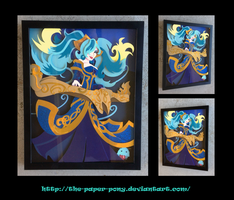 Commission:  League of Legends: Sona Shadowbox by The-Paper-Pony
