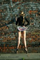 ballerina front of the wall by nnoik