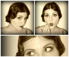 Flapper Hair and Make-Up by grg-costuming