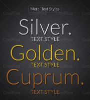 Metal Text Styles by khatrijiya