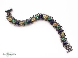 Chainmaille: Crystal Lace Bracelet by LinaIvelle