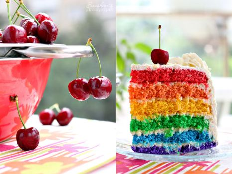 Rainbow cake by kupenska
