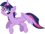 Twilight's Shaky Descent by PegasisterFireboom